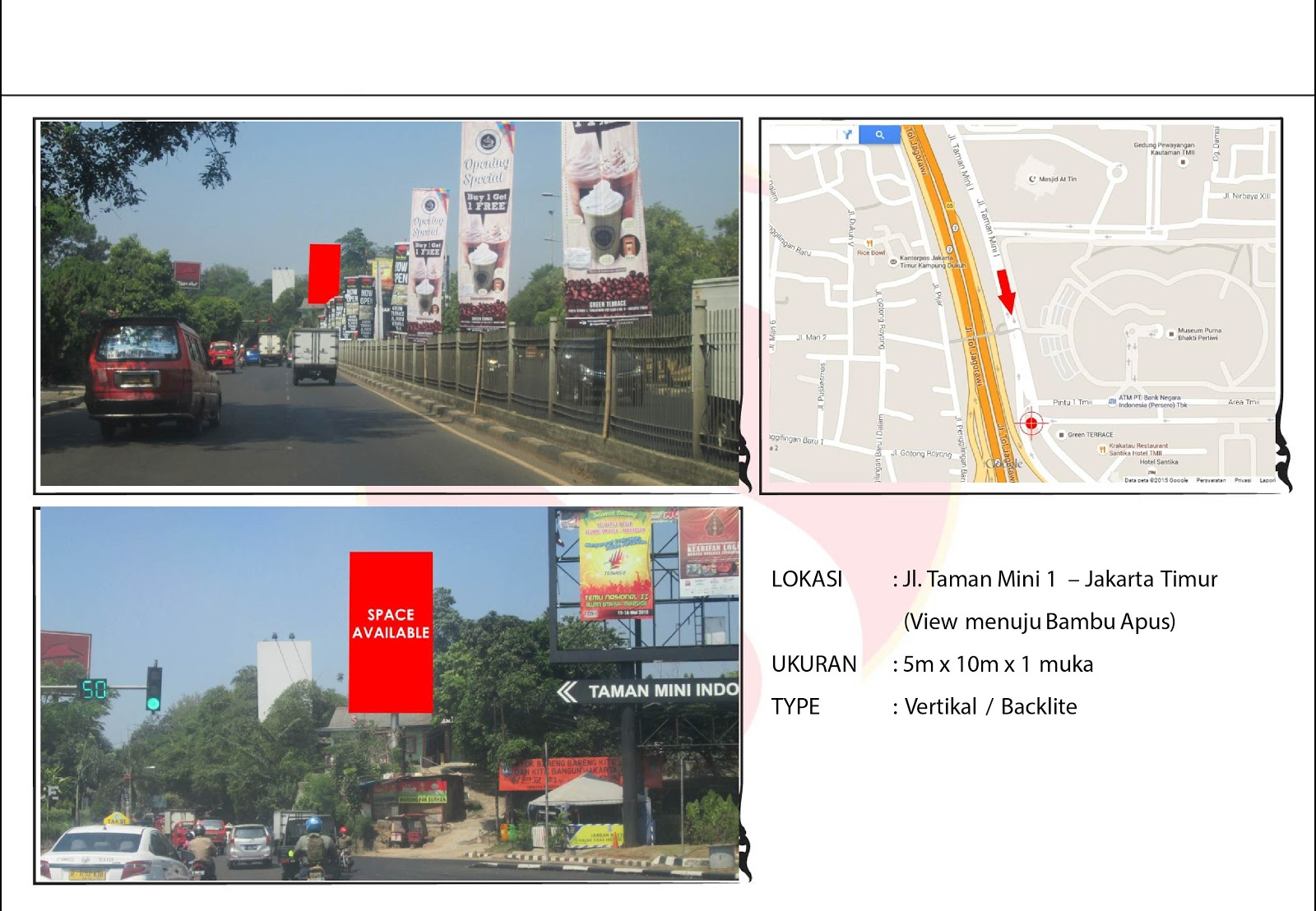 Billboard Taman Mini Jakarta